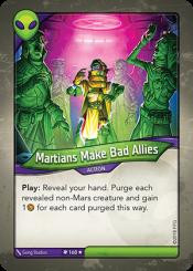 Martians Make Bad Allies