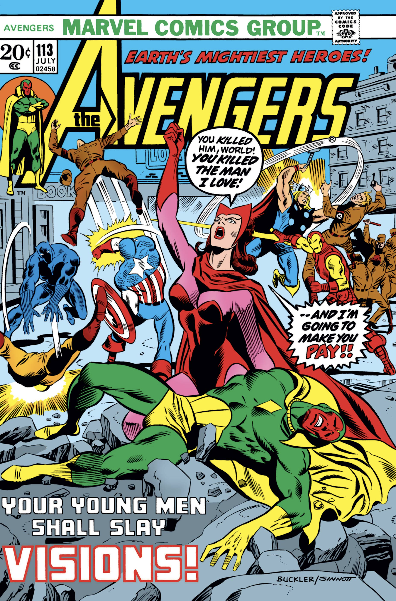 The Marvel Comics Guide: VISION & SCARLET WITCH READING ORDER: The Odd  Couple (1972-1977)